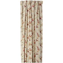 Ellis Curtain Fireside Floral Pinch Pleated 144-Inch-by-84-Inch Thermal Insulated Drapes, Linen