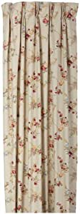 Fireside Floral Pinch Pleated 48-Inch-by-63-Inch Thermal Insulated Drapes, Linen