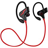 WeCool Wireless Bluetooth 4.1 In-Ear Headset with Mic for Hi-Fi Music and Calls for Android Smartphones (Red)