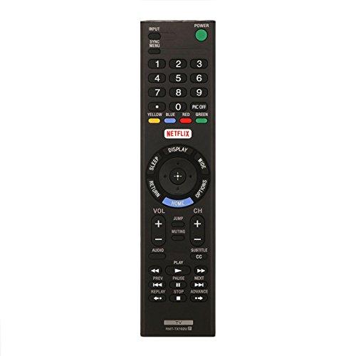VIRCIA New RMT-TX102U Universal TV Remote Control for Sony Smart TV KDL-48W650D KDL-32W600D KDL-40W600D KDL-32R500C KDL40R550C KDL-48R530C KDL-40R510C KDL40R550C