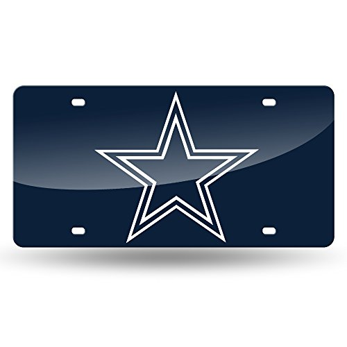 NFL Dallas Cowboys Laser Inlaid Metal License Plate Tag