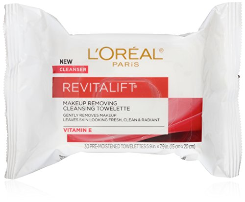 L'Oreal Paris RevitaLift Radiant Smoothing Wet Facial Cleansing 30 Towelettes