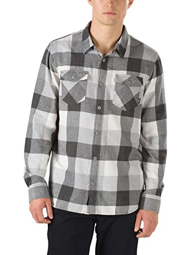 Vans Men's Box Flannel Shirt (Large, Marshmallow/Frost (Box Flannel)