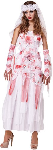 Ladies Bloody The Bride TV Film Halloween Horror Scary Tarantino Book Fancy Dress Costume Outfit -