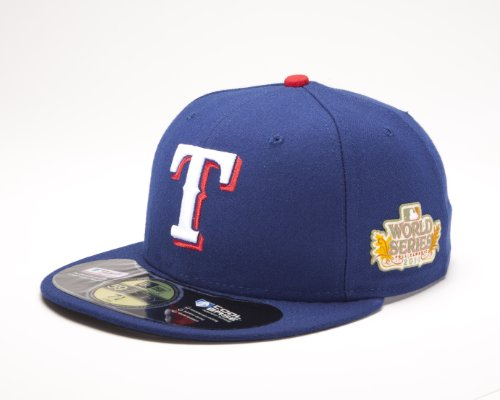 MLB Texas Rangers 2011 Youth World Series Onfield Side Patch Cap, Navy, 6 3/8