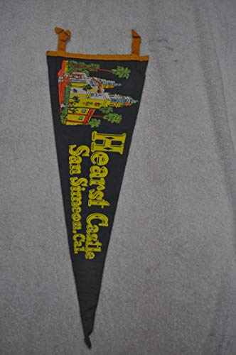 Vintage Hearst Castle San Simeon, California Souvenir Pennant Poor Condition