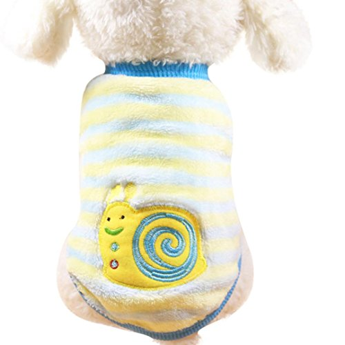 Puppy Snails Print Warm Sweater, Howstar Cute Doggy Winter Clothing Outfit Apparel (multicolour, (Snail Costume For Dog)