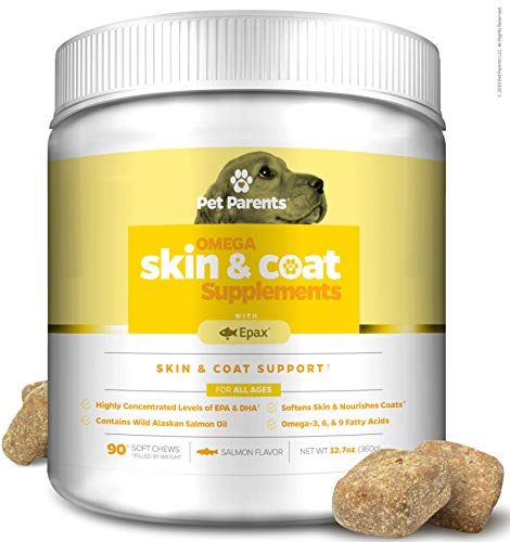 Pet Parents USA Omega 3 for Dogs 4g 90c - Dog Skin Care & Fur Vitamins + Omega Dog Treats, Epax Fish Oil for Dogs, EPA & Dog DHA, Anti Itch Dog, Fish Dog Treats, Dog Itch Relief, Salmon Oil for Dogs