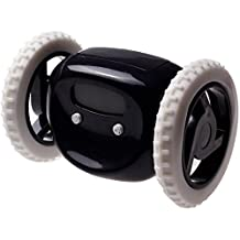LCD Display Running Alarm Clock, Black Runaway Clock on Wheels for Heavy Sleepers, Funny & Decorative, By Creatov