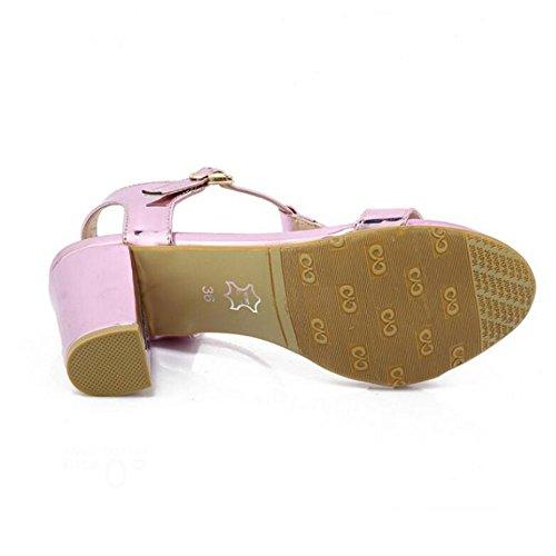 Dama Zapatos Moda Mujer de Sandalias Joker Verano Purple rwqWzInrZS