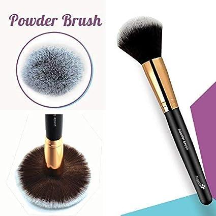 Brocha para polvos – Brocha para maquillaje profesional que te permitirá difuminar productos minerales o polvos translucidos. – Aplicación perfecta – ...