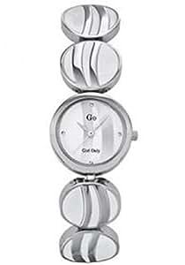 Go 694381 - Reloj , correa de acero inoxidable color blanco
