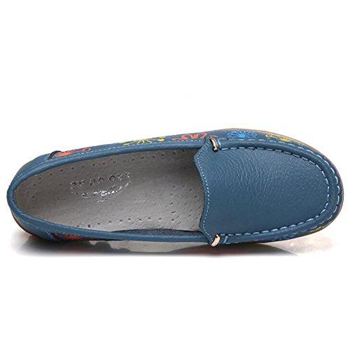 Único UK6 Antideslizante SHANGXIAN Zapatos CN39 US8 Blue Alta Plano EU39 Mujeres Zapatos Calidad Blue Casual Sencillo H5dwqdO