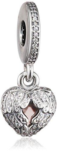 - Pandora Angel Wings Pendant Charm in 925 Sterling Silver, 791737CZ