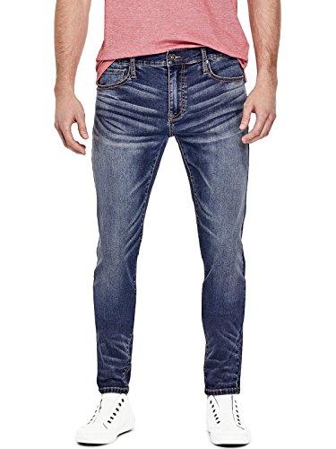 GUESS Factory Men's Sammy Super Stretch Modern Skinny (Guess Indigo Jeans)