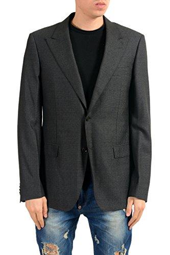 Versace Men's Silk Wool Charcoal Two Button Blazer Sport Coat US 40 IT ()