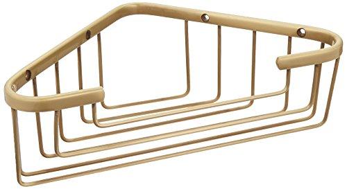 Allied Brass BSK-50ST-SBR Large Solid Corner Shower Basket, Satin (Shower Basket Satin Brass)
