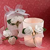 White Rose Candle Favors – 72 count