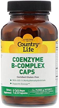 Country Life, Coenzyme B-Complex Caps, 120 Vegan Capsules