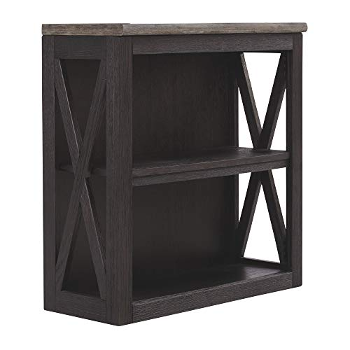 Ashley Furniture Signature Design - Tyler Creek Medium Bookcase - Casual - 2 Shelves - Adjustable Center Shelf - Grayish Brown/Black ()