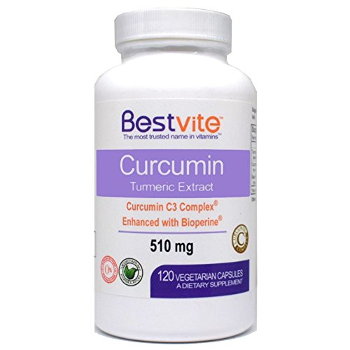Curcumin 510mg (Turmeric)(120 Vegetarian Capsules) with Curcumin C3 Complex & Bioperine - Standardized to 95% Cucuminoids