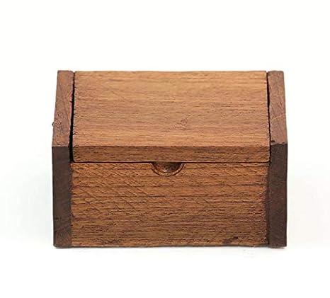 Amazon.com: Trust- Caja de madera de teca para joyería hecha ...