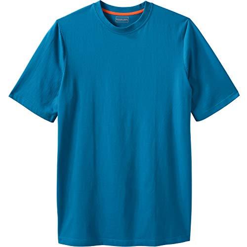 (Boulder Creek Men's Big & Tall Heavyweight Crewneck T-Shirt, Classic Teal Tall-2XL)
