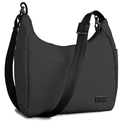 Pacsafe CitySafe 100 GII Small Travel Handbag (One Size, Ebony)