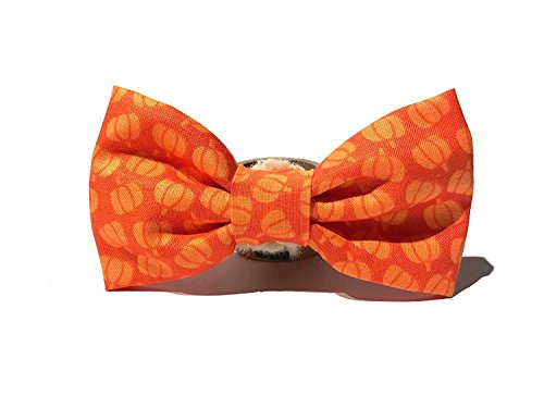 Very Vintage Designs October Time - Orange Pumpkin Gourd Halloween Thanksgiving Fall Autumn Masculine Hand-crafted Bow Tie for a Dog or Cat Collar - Bowtie only - Handmade in the USA (Cat Gourd)