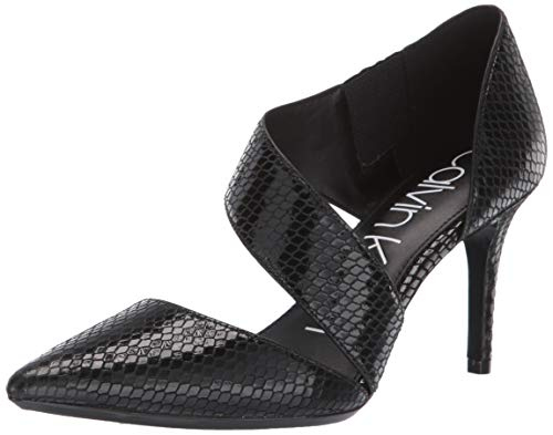 - Calvin Klein Women's Gella Dress Pump, Black Snake, 7 M US