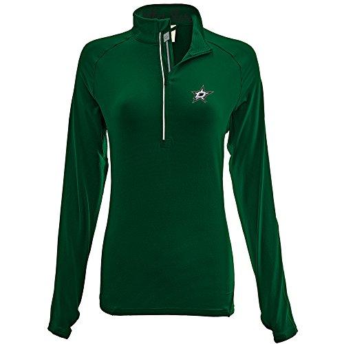 Levelwear LEY9R NHL Dallas Stars Adult Women Energy Banner Stripe Half Zip Mid-Layer, Medium, Rider Green
