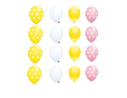 Coordinating LATEX PINK LEMONADE STAND LEMON Birthday Balloons Decoration Supplies Fair Summer -