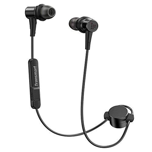 Tronsmart Bluetooth イヤホン 高音質 apt-X/AAC対応 低音強化 IP56防水 マグネット機能 内蔵マイク搭載 12時間連続使用 CVC6.0ノイズキャンセリング スポーツ ブルートゥース イヤホン ワイヤレス Bluetooth ヘッドホン iPhone、Android各種対応