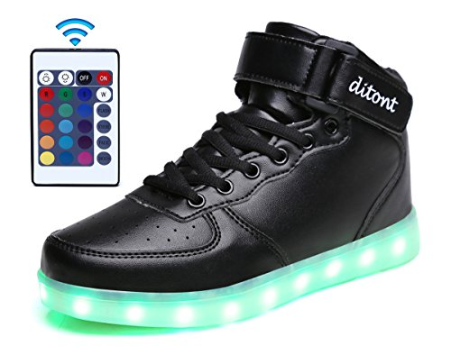 ditont-led-light-up-shoes-remote-control-16-colors-flashing-sneakers-for-kids-boys-girlsdt98black33