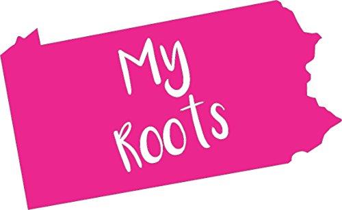 Barking Sand Designs Pennsylvania My Roots Pink - Die Cut Vinyl Window Decal/Sticker for Car/Truck 6.5