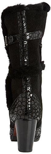 botas bajo Mihara de piel Chie mujer Schwarz caño josan negro negro de negro facefur lebon XWyq4cEcn