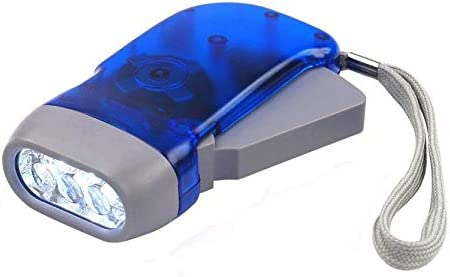 Hand Press Dynamo Light Torch Flashlight Wind Up Crank Squeeze Rechargeable