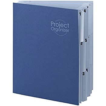 Smead Project Organizer, 10 Pocket Dividers, Letter Size, Navy/Lake Blue (89200)