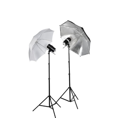 CowboyStudio 360 Watt Photography Studio Monolight Strobe/Flash Umbrella Lighting Kit - 2 Studio Flash/Strobe, 2 (Studio Flash Kit)