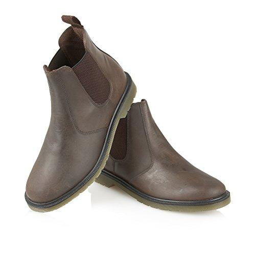 Hombres de piel botas de Chelsea de formal Casual comodidad talla marrón - marrón chocolate