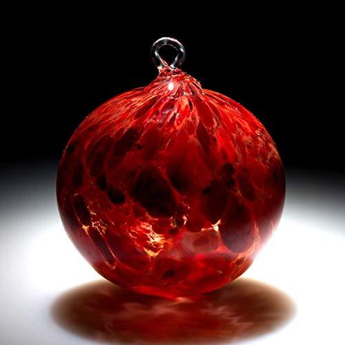 Ornament. Sun catcher. Hand blown Fine Art Glass Ornament in Red. Made in Seattle. Artist Dehanna Jones. -