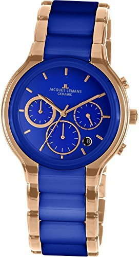 Jacques Lemans Dublin 1-1580J 41mm Ion Plated Stainless Steel Case Ion Plated Stainless Steel Synthetic Sapphire Men's Watch