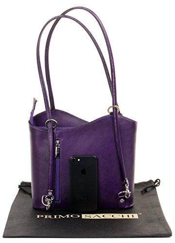 rangement ou de nbsp;Comprend bandoulière dos Sac moyennes main à de nbsp;Versions Purple protecteur à main la sac italien cuir marque à un grandes et Moyen sac fabriqué en sac à Sq4Xn14w
