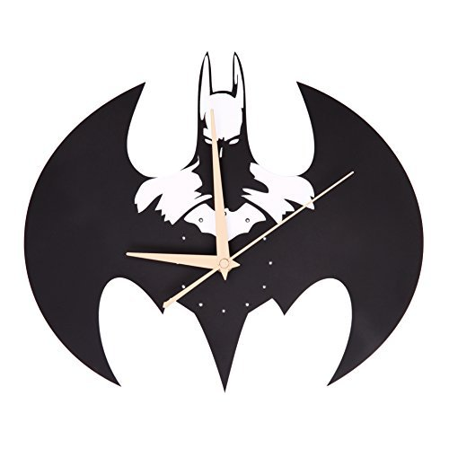 Foxtop Solid Creative 3D Batman Acrylic Wall Clock for Home