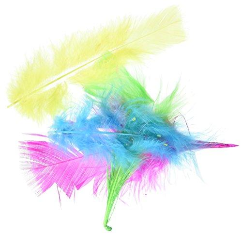 Zucker Feather (TM) - Loose Turkey Flats Mix Dyed - Bright Mix