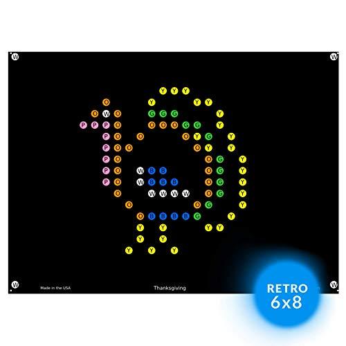 IllumiPeg Light Brite Magic Screen Refills - Holiday Art Templates (12 Sheets)