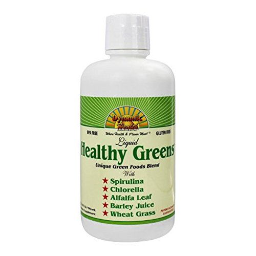Dynamic Health Healthy Greens Liquid, 32 Ounce