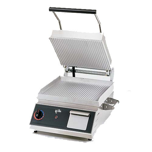 """Table Top King star (CG14) - 20"""" Grooved Pro-Max Sandwich Grill"""