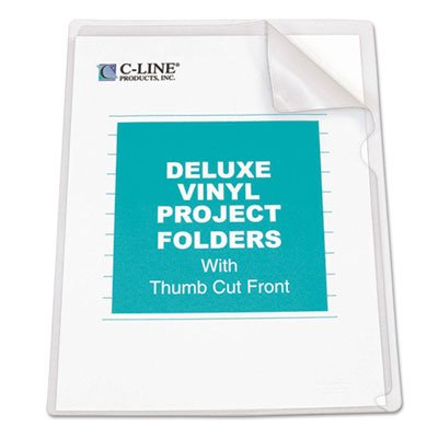 (Deluxe Project Folders, Jacket, Letter, Vinyl, Clear, 50/Box, Sold as 2 Box, 50 Each per Box)