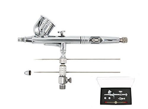 SYWHZ G2 High Precision Doual Action Gravity Feed Airbrush With 0.2 0.3 0.5mm Nozzles and Needles for Body Art Nail Art Makeup Paint